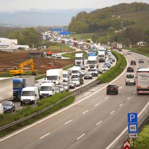 Stau auf deutschen Autobahnen